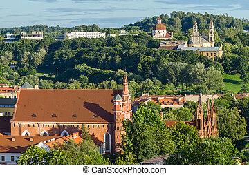 Top view in Vilnius city