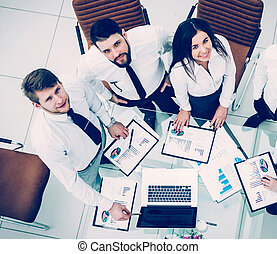 professional business team developing a new financial strategy