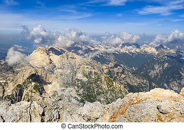 Top View Mountains Scenery