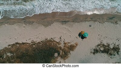 Top View of a Beach