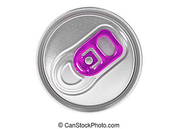 Top view of a can isolated on white background