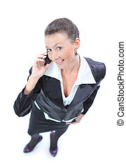 business woman talking mobile