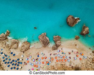 Top View Of A Sea Beach