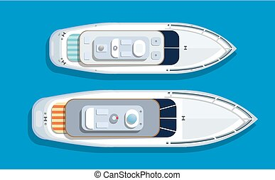 Top view of an island - Top view pleasure boat tourist boat...