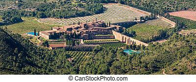 Top view of antique monastery of Porta Coeli