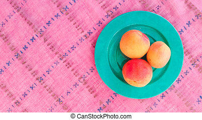 Top View of Apricots on a Table