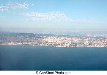top view of barcelona