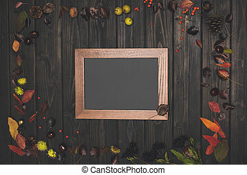 autumn composition and frame