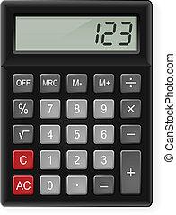 Calculator - Top View of Black Calculator. Illustration on...