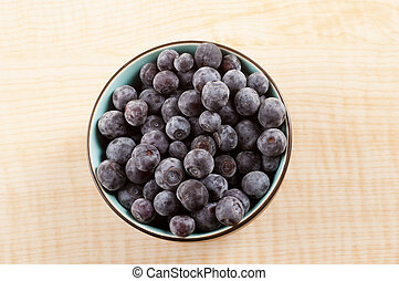 Top View of Blueberries