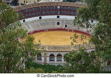 Bullring in Malaga, Andalusia (Spain)