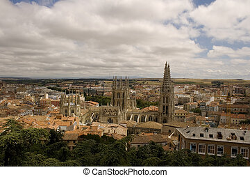 Burgos - Top view of Burgos, Famous Spanish city