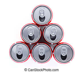 Top view of can