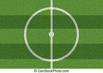 top view of center circle on soccer field