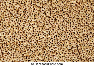 top view of cereal