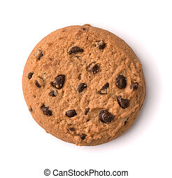 Top view of chocolate chip cookie