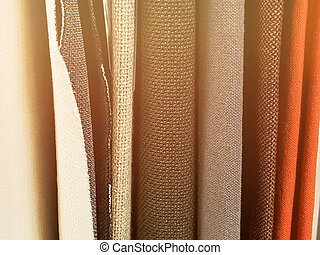 Top view of cloth textile surface. Close-up knitted fabric texture.