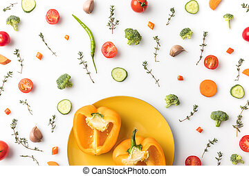 cut yellow bell pepper