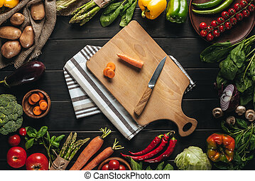 cutting board with carrot