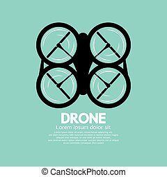 Top View Of Drone Vector.