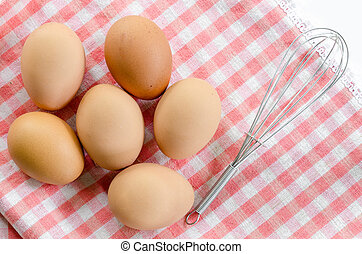 top view of eggs.