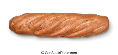 Top view of fresh bread loaf