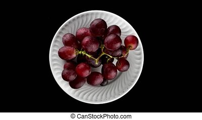 Top view of grapes