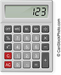 Gray Calculator - Top View of Gray Calculator. Illustration...