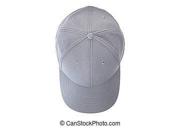 Top view of gray cap isolated on white background