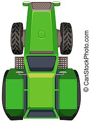 Top view of green tractor