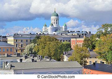 Top-view of Helsinki