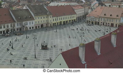 Hermanstadt Grand Square - Top view of Hermanstadt Grand...