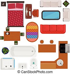 Top View Of Home Furniture