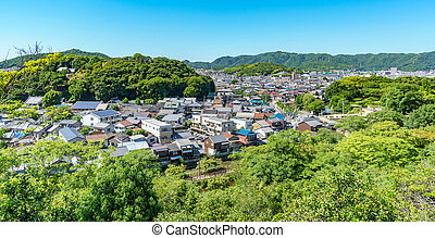 Japanese city in the middle of the forest