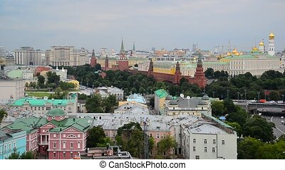 Top view of Kremlin of Moscow, Russia