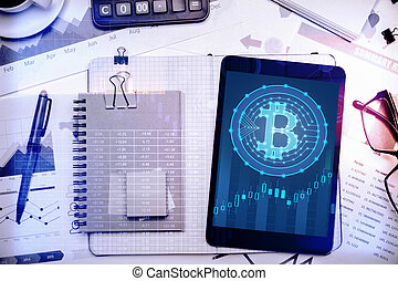 Business and cryptocurrency concept