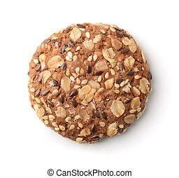 Top view of multigrain cookie