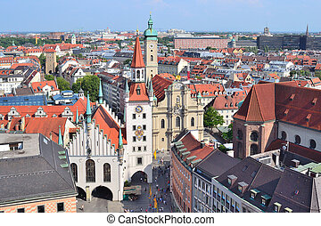 Top-view of Munich