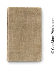 Top view of old book cover