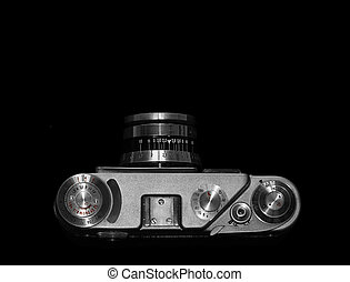 Top view of old camera
