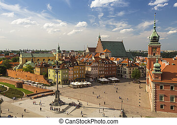 Top view of Old town in Warsaw