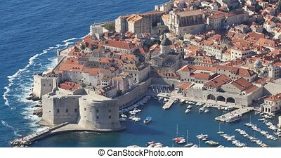 top view of Old Town of Dubrovnik