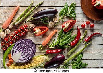 organic ripe vegetables