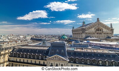 Top view of Palais or Opera Garnier The National Academy of...
