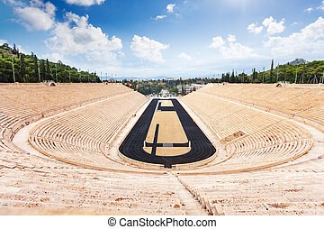Top view of Panathenaic Stadium in Athens - Symmetric view...