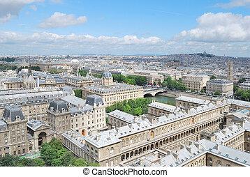 Top-view of Paris