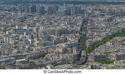 Top view of Paris skyline from observation deck of...
