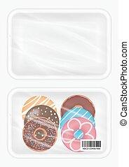 top view of polystyrene packaging