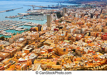 Top view of Port in Alicante
