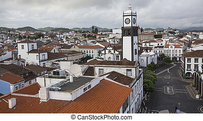 Top view of Praca da Republica